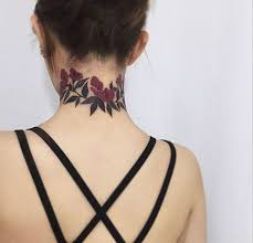 Tattoo Ideas For Back Of Neck Best 25 Rose Neck Tattoo Ideas On Pinterest Black And Grey Rose