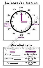 telling time in spanish printable worksheets printables la hora