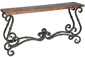 wood and iron sofa table top iron sofa tables with wrought iron console tables 4 image 2 of 7