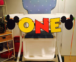 Mickey Mouse Chair by Mickey Mouse One High Chair Banner High Chair Banner I Am 1