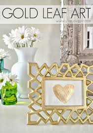 livelovediy diy gold leaf art