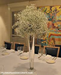 baby s breath centerpiece centerpieces for a winter dinner celebrate decorate