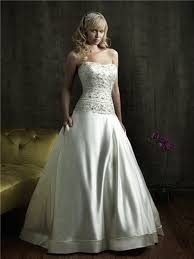 dropped waist wedding dress gown strapless fitted dropped waist satin embroidered beaded