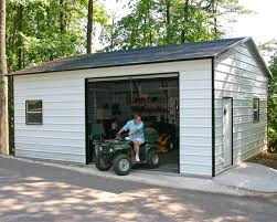 Garage With Workshop Metal Carports And Garages Decorations Metal Carports And