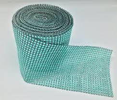 mint green ribbon mint green diamond mesh wrap roll rhinestone