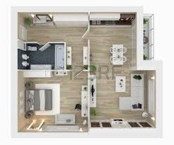 layout floor plan floor plan of a house top view 3d illustration open concept