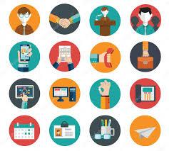 bureau des ressources humaines ensemble d icônes plat moderne des ressources humaines de gestion