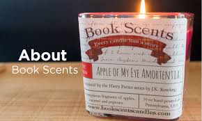 book scents candles home