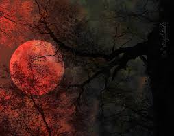halloween art prints blood moon photo surreal full moon art print halloween creepy tree