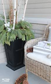 holiday cheer outdoor christmas decorations setting for four