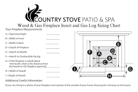fireplace measurement sheet country stove and patio