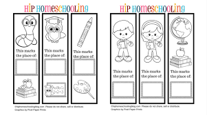 free printable bookmarks color personlize