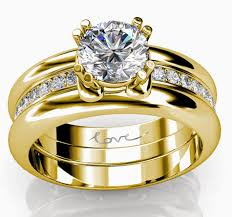 wedding rings luxury images Trio wedding rings sets yellow gold with luxury diamond jpg