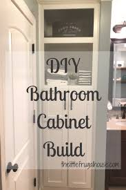 Build Bathroom Cabinet Bathroom Cabinet Build An Awkard Space Turned Into Spacious Storage