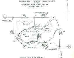 Rock Island Illinois Map by Interstate Guide Interstate 280 Iowa Illinois