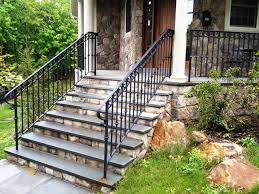 stairs marvellous metal handrails for outdoor steps exterior