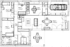 plan de maison 3 chambres salon plan maison 80m2 2 chambres plan maison 2 chambres plain pied modle