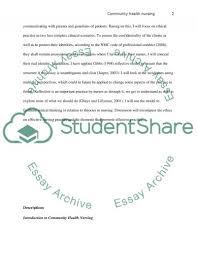 Community Health Nurse Resume Descriptive Essays Examples On Place My Teacher Essay Thesis