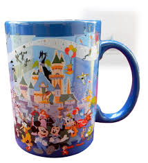 Peacock Mug Amazon Com Disneyland 60th Anniversary Through The Years Mug