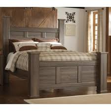 fairfax driftwood rustic modern queen post bed rc willey