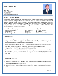 resume electrician sample electrical project engineer sample resume 20 construction project