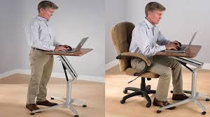 Standing To Sitting Desk Sit To Stand Workstation Height Adjustable Sitting Standing Desk