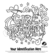 awesome collection 2017 daisy scout coloring pages