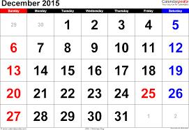 december 2015 calendars for word excel u0026 pdf