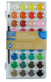 amazon com artists loft fundamentals watercolor pan set 36 colors