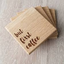 wooden personalized gifts wooden coasters solid wood drink or coffee by mariakonstantin