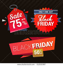 black friday sale signs voucher gift certificate coupon template stock vector 312314675