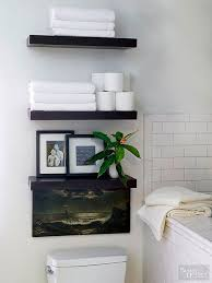 top stylish bathroom shelves for towels intended for household