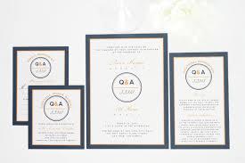 contemporary wedding invitations contemporary wedding invitations in navy blue and orange wedding