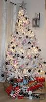 Black And White Ball Decoration Ideas Decorations Lighted White Christmas Tree Featuring Black And