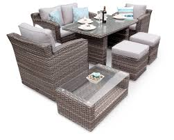 chelsea rattan sofa dining outdoor wicker set natural alley cat
