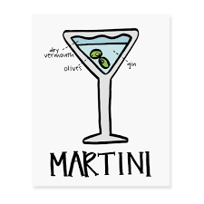 martini birthday wishes martini diagram art print u2013 fresh out of ink