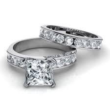 wedding set 3 band diamond wedding rings tags channel set wedding ring