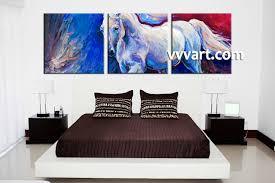 3 piece horse wildlife blue canvas wall art bedroom decor 3 piece wall art scenery wall art wildlife wall decor