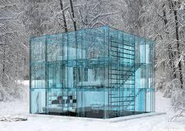ultra minimal glass house modern design by moderndesign org