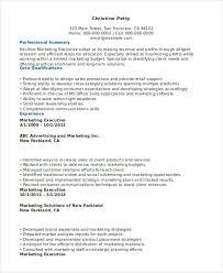 marketing executive resume 31 executive resume templates in word free premium templates