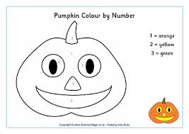pumpkin colour number