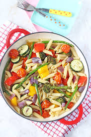 pasta salad recipe easy roasted vegetable pasta salad healthy ideas for kids