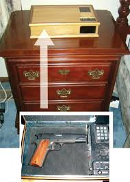 Built In Gun Cabinet Plans Side Table Bedside Table With Built In Gun Safe How To Build