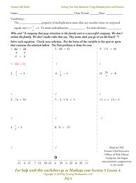 multiplication equations worksheet worksheets