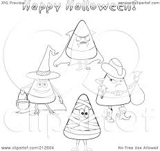 halloween costumes candy corn royalty free rf clipart illustration of a digital collage of