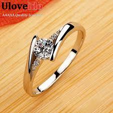vintage rings aliexpress images Uloveido vintage wedding rings for women silver rose gold color jpg