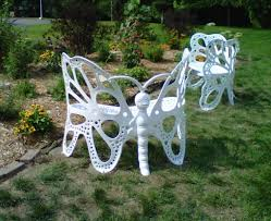butterfly garden bench is absolutely stunning butterfly white