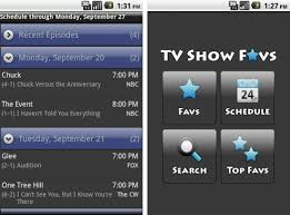 androids tv show tv shows favs android app track your fav tv shows right from your