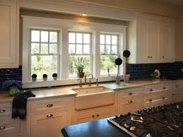 Kitchen Bay Window Ideas Kitchen Sinks Prep Bay Window Over Sink Square Brushed Copper