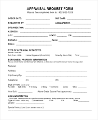 10 sample appraisal request forms free sample example format